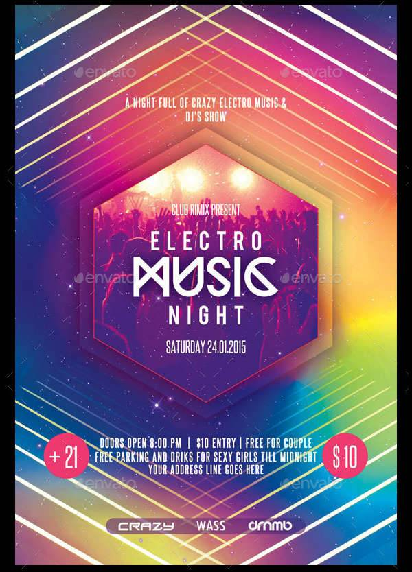 Electro Party Flyer Design