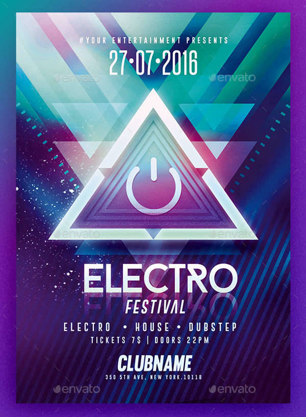 Electro Party PSD Template