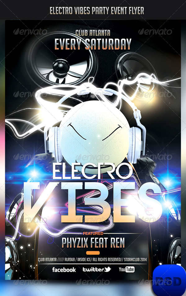 Electro Vibes Party Event Flyer