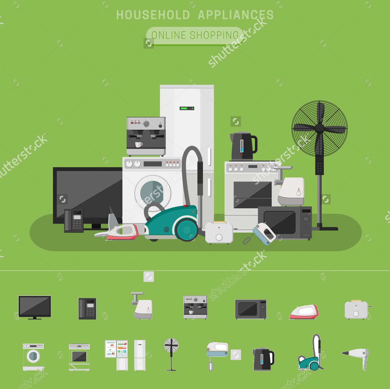 Electronic Appliances Vector Banners