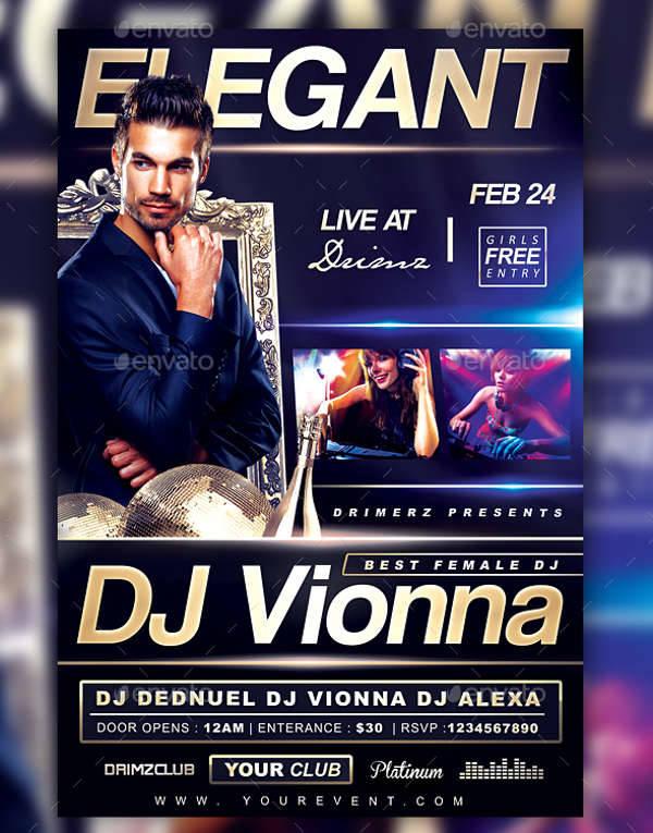 Elegant DJ Flyer