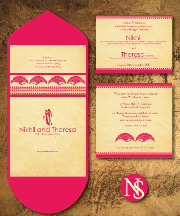 Elegant Engagement and Wedding Invitation