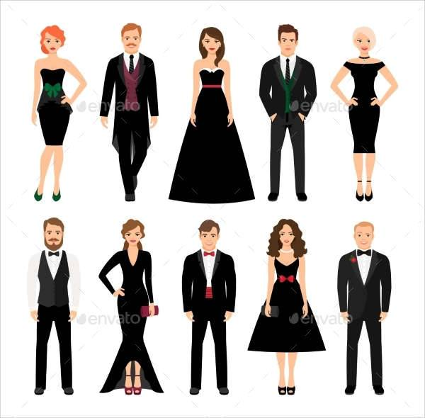 Elegant Fashion People Illustration