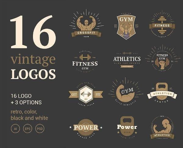 elegant vintage sports logo