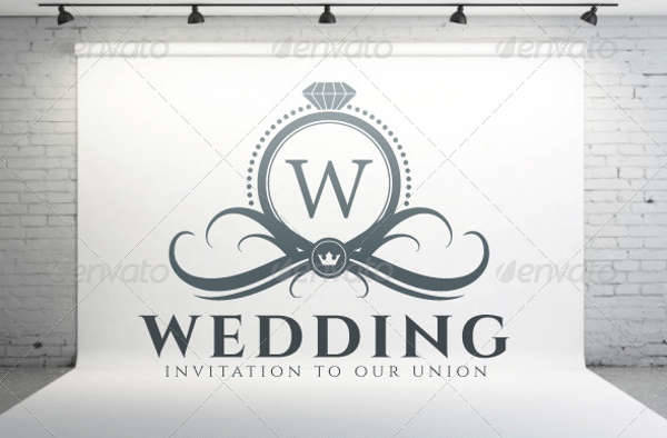 Elegant Wedding Reception Logo