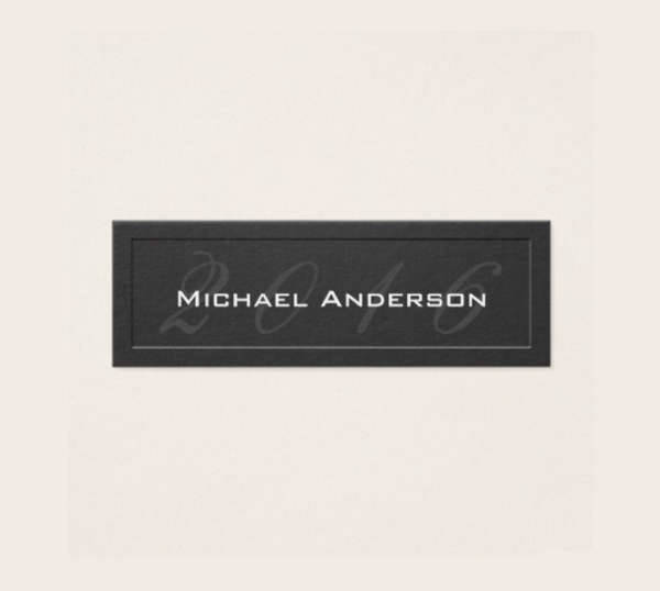 Embossed Graduation Name Card