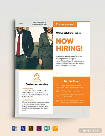 19  recruitment flyers - psd  ai  word