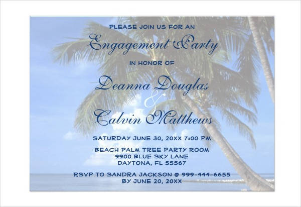 Engagement Event Invitation Card