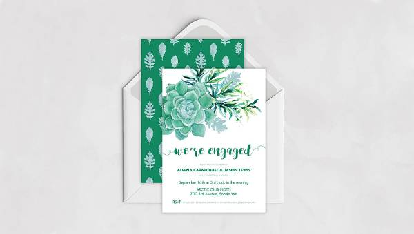 36 Engagement Invitation Designs