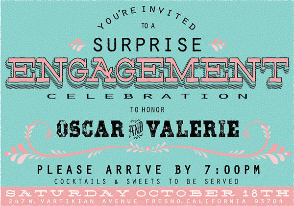 Engagement Party Email Invitation