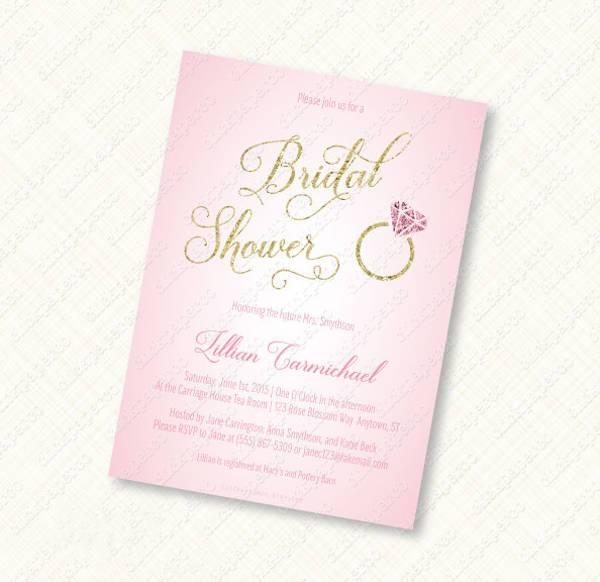 Engagement Ring Bridal Shower Invitation