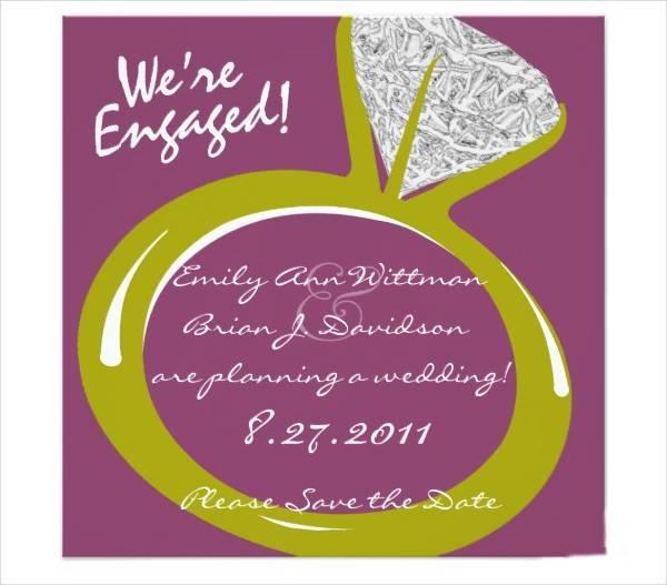 Engagement Ring Ceremony Invitation