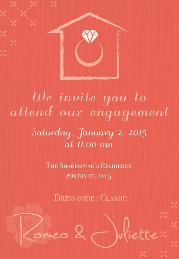 Engagement Ring Party Invitation