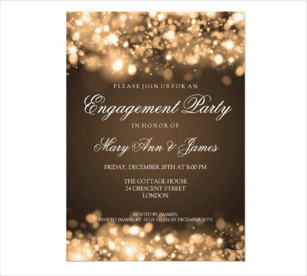 Engagement and Wedding Invitation Card