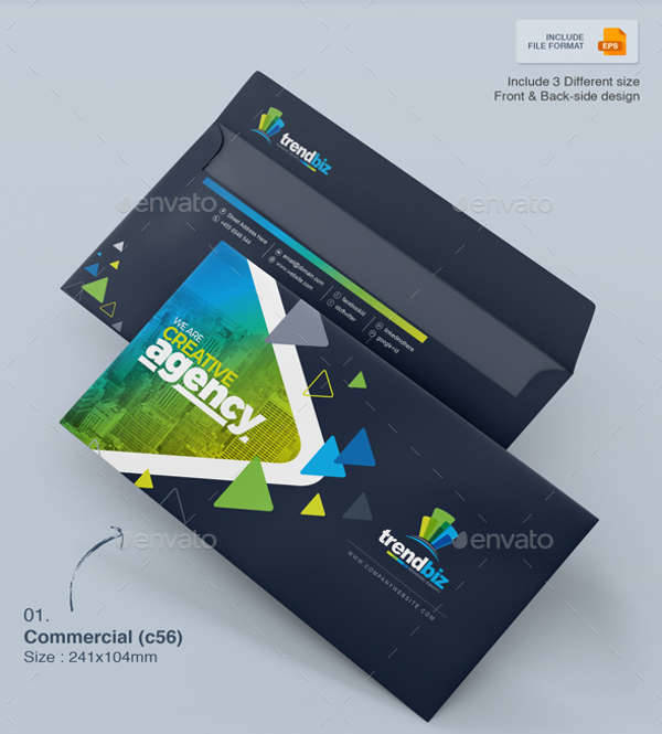 Envelope Packaging Design Template