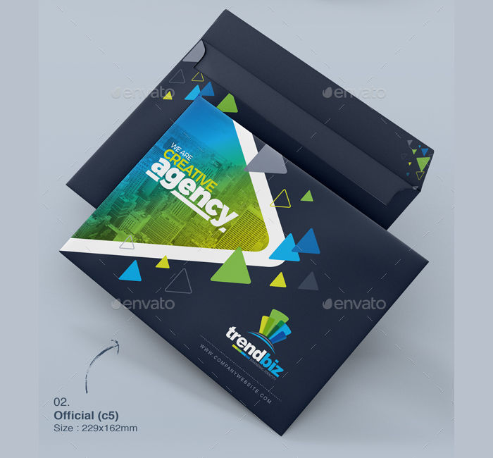 Envelope Packaging Design Template