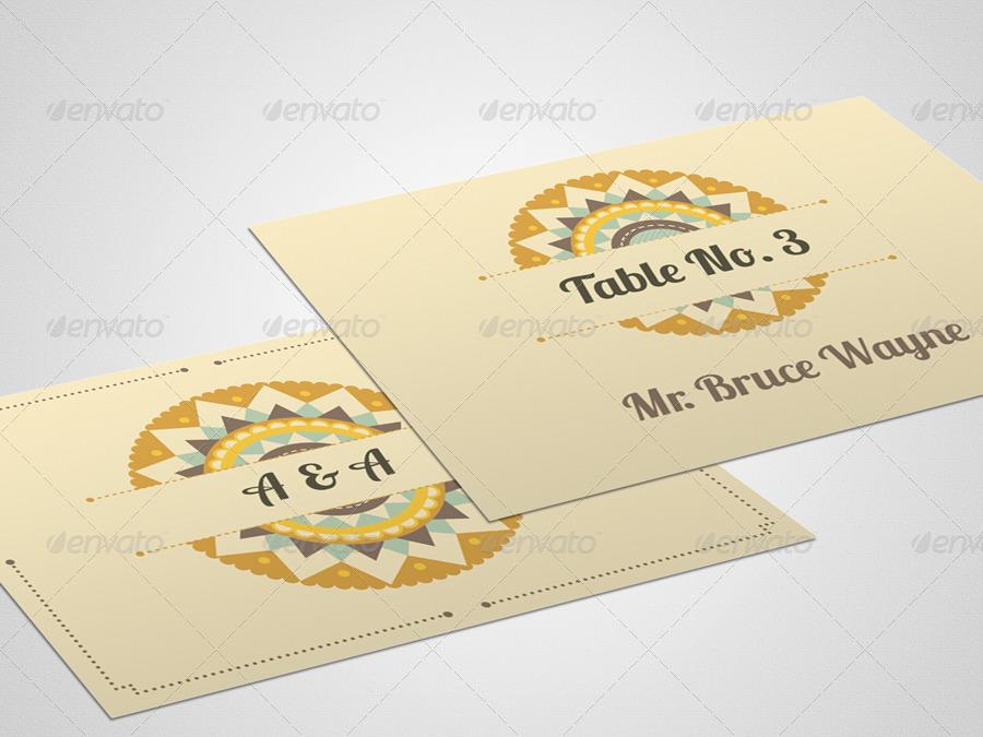 ethnic wedding card set