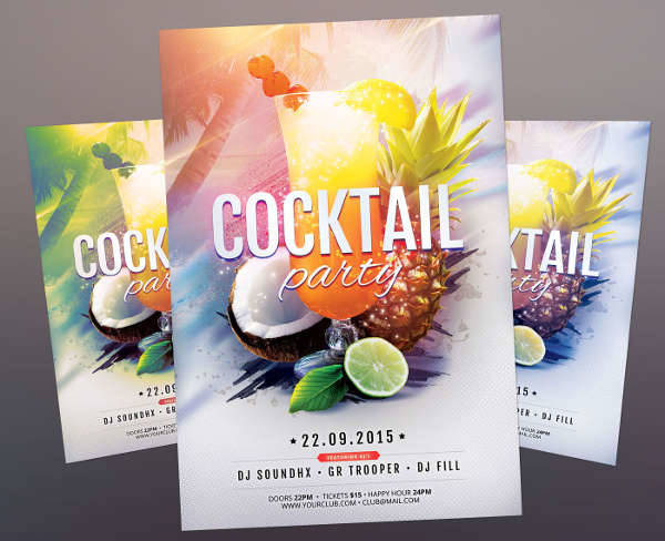 Event Cocktail Party Flyer