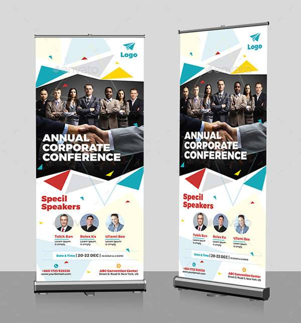 Event Summit Conference Roll up Banner