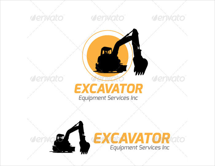 excavator equipment service logo