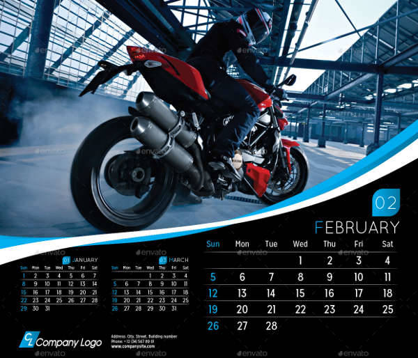 Executive Desk Calendar