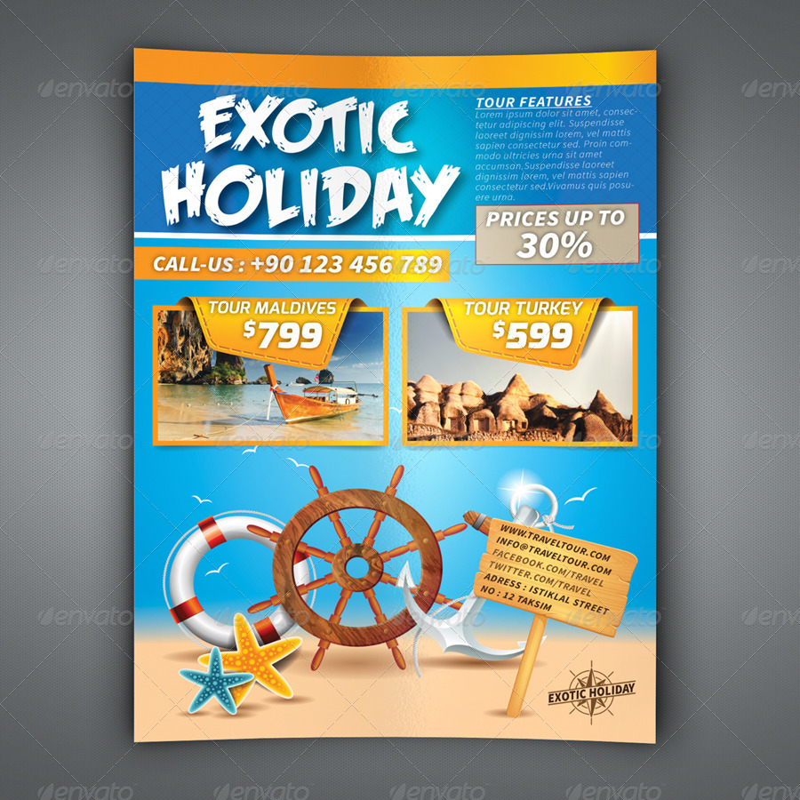 exotic holiday flyer design