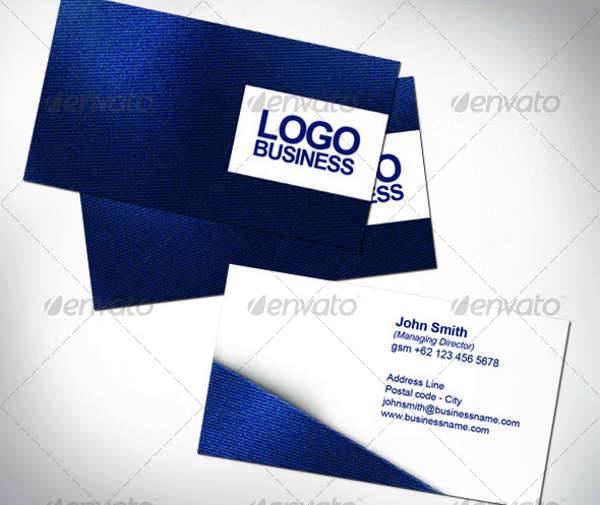 Fabric Name Card PSD