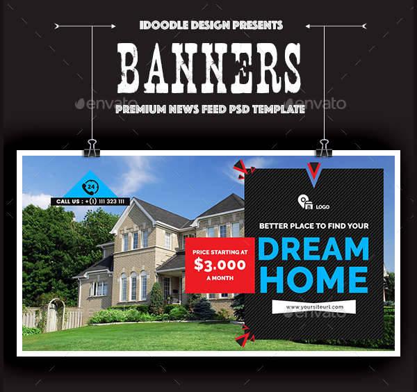 facebook real estate banner ads