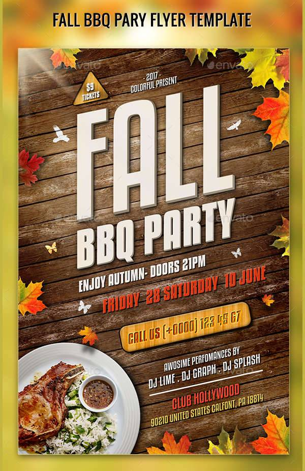 17  Bbq Party Flyer Designs