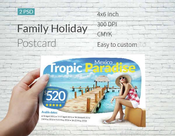 Family Holiday Postcard