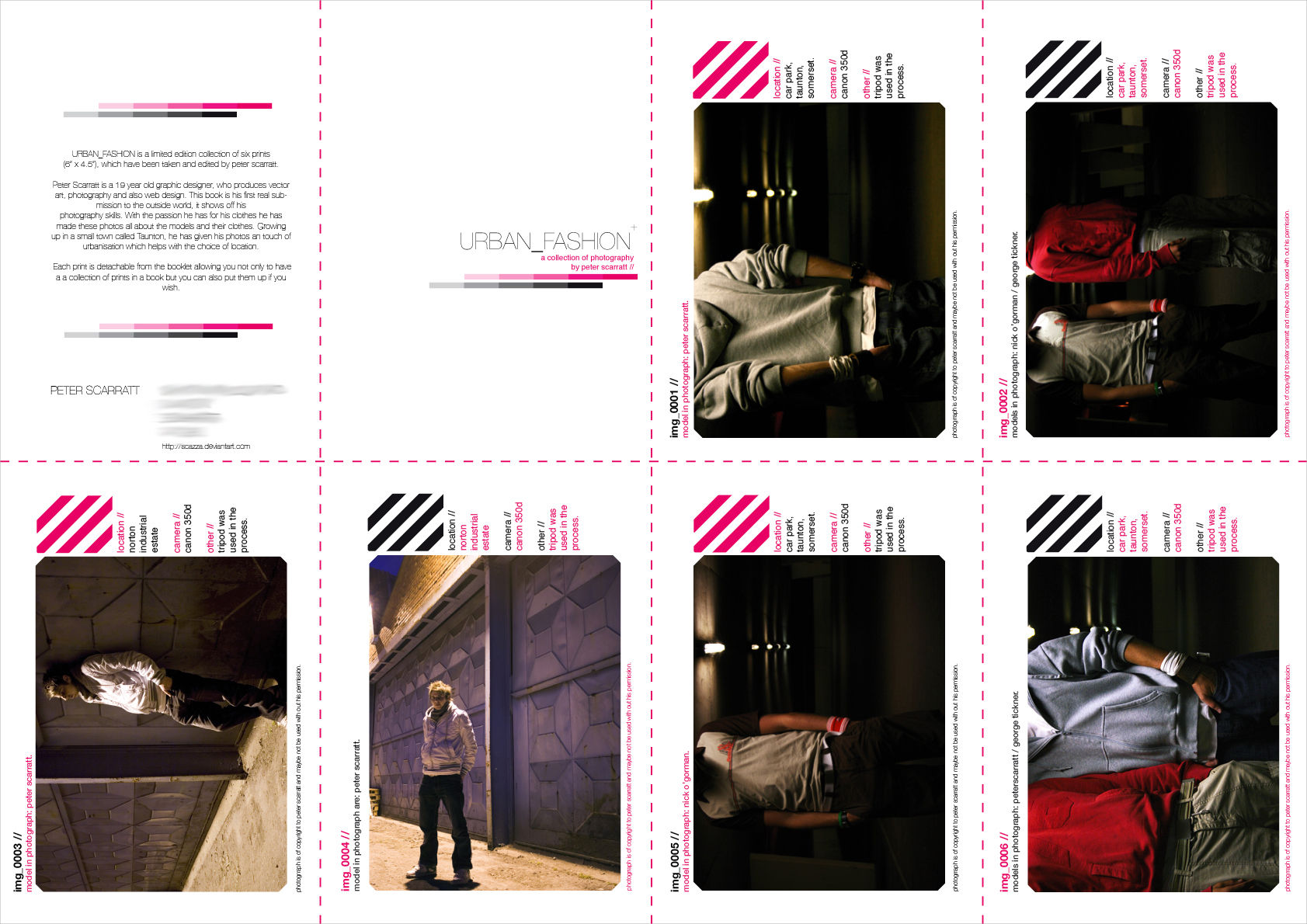 fashion booklet template