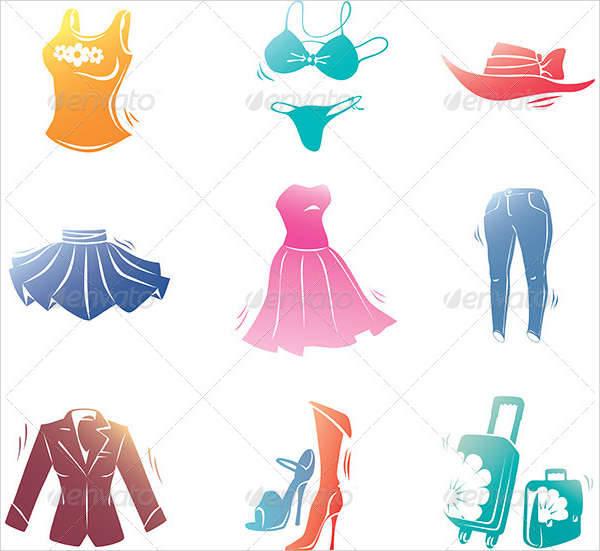fashion cloths icons