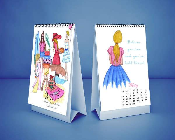 fashion desk calendar
