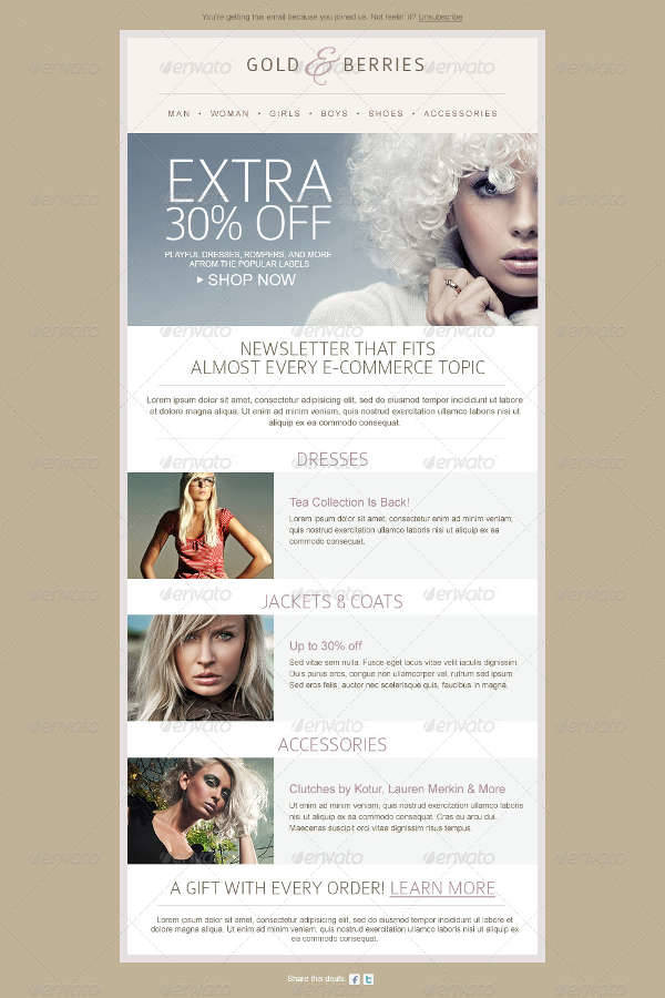 fashion e newsletter