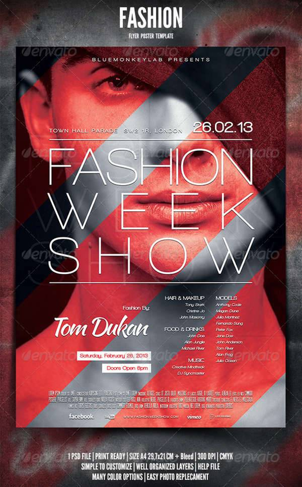 12+ Fashion Event Flyers - Printable PSD, AI, Vector EPS ...