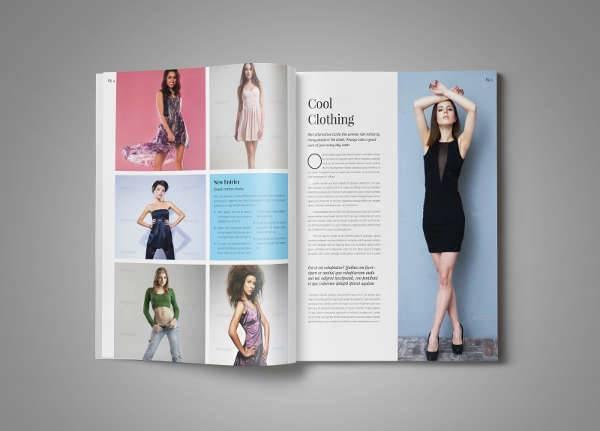 fashion magazine ad