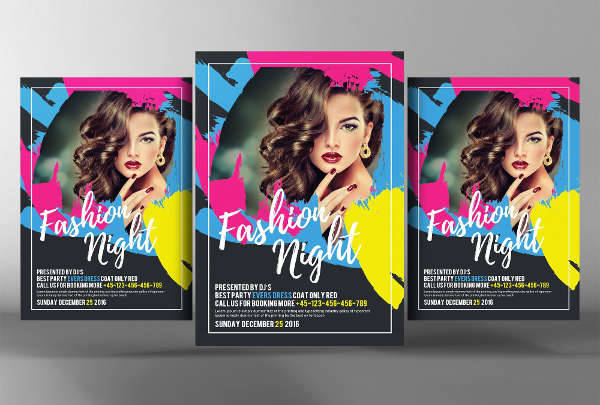 fashion night event flyer