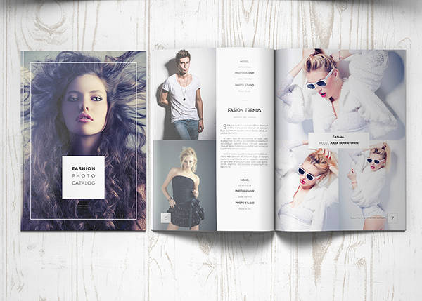 fashion photography brochure catalog