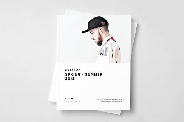 fashion product catalog in design template