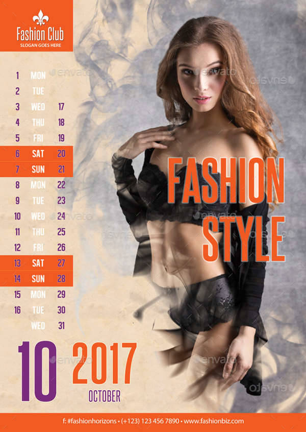 fashion styles 2017 calendar