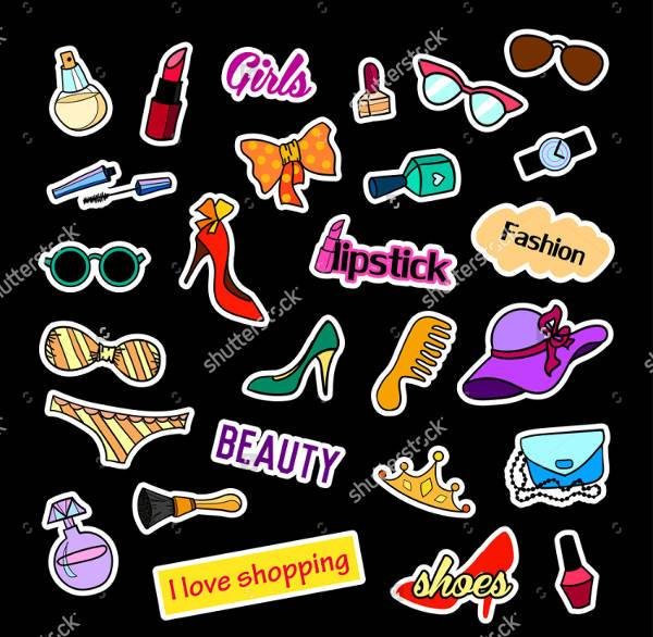 fashion vector stickers