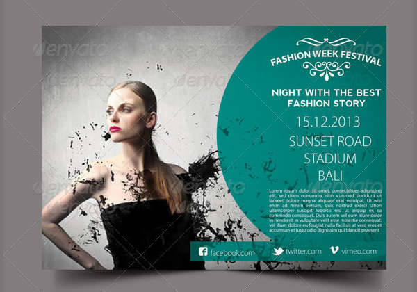 fashion week festival flyer