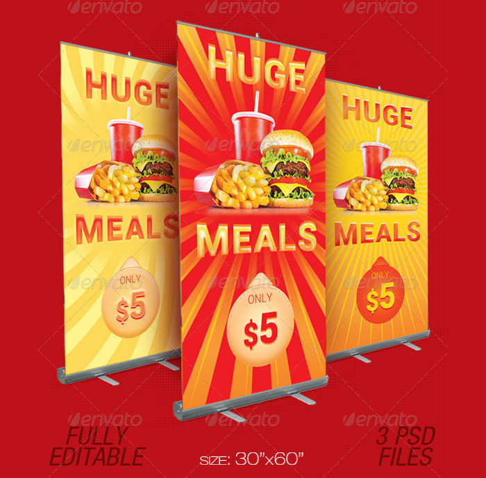 fast food promotion outdoor banner