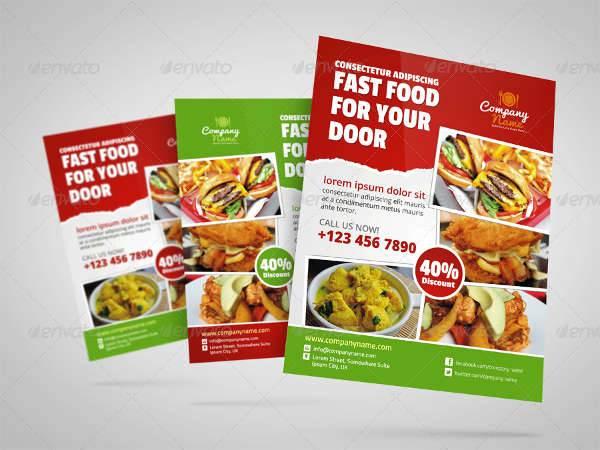 fast food restaurant flyer ad design