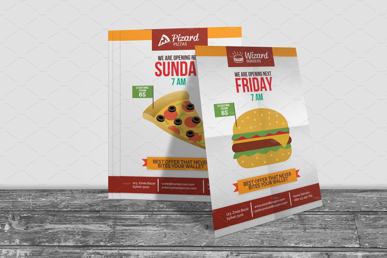 Fast Food Restaurant Opening Flyer