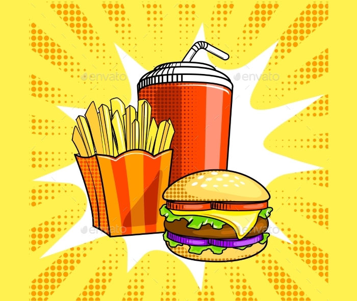 fast food vector illustration1