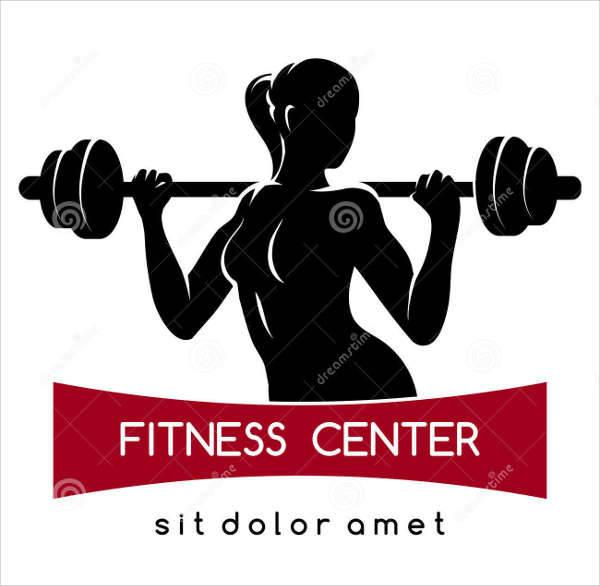 fitness center logo vector