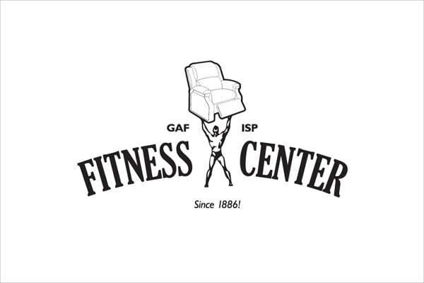 fitness gym center logo
