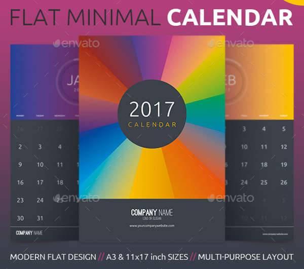 Flat Minimal Calendar