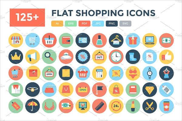 flat shopping icons